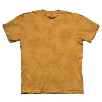 【摩達客】(預購)美國進口The Mountain純棉 瓜黃色 環保藝術波紋底紮染T恤