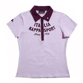 KAPPA義大利舒適女吸濕排汗彈力棉彩色POLO衫 粉/ 紫-FA91-F305-91