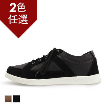 PLAYER  拼接雅痞休閒鞋(SP110) 黑色