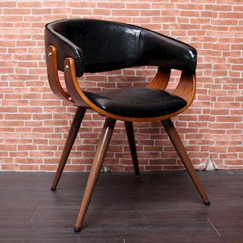 【H&D】AIDEN艾登木作皮革單椅/餐椅-(三色)