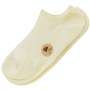 【KEROPPA】可諾帕網狀造型船襪(學生專用)x4雙C97001淺黃