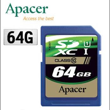 Apacer 宇瞻 64GB SDXC UHS-I Class10 記憶卡