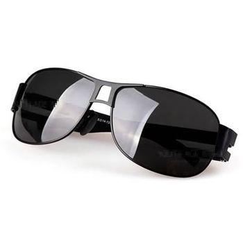 【米蘭精品】偏光 太陽眼鏡 抗UV墨鏡 黑色/槍色
