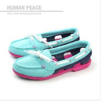 Crocs 帆船鞋 戶外休閒鞋 水藍 女款 no235