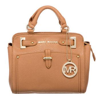 MARC ROCOO 法式時尚經典手提斜背二用包-106(咖啡拿鐵)