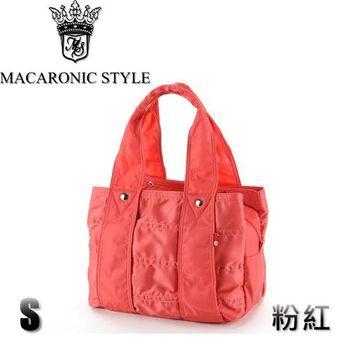 日本品牌 Macaronic Style 2Way 手提 肩側包 2用曼谷包(小)-粉紅