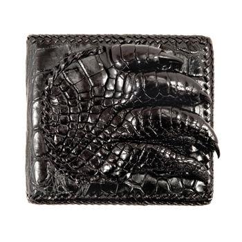 Sarlisi 潮流男士手工編織鱷魚皮夾(黑色、咖啡色)