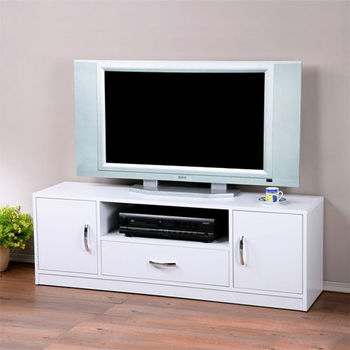 Homelike 個性時尚電視櫃(純白色)