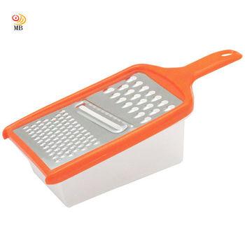 月陽長方型保鮮盒多功能蔬菜刨絲磨絲切片磨泥刨刀組(208381)