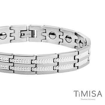 【TiMISA】豐收之歌-寬版 純鈦鍺手鍊 (原色)