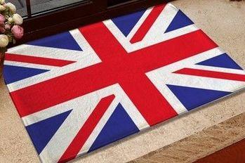 英倫風格印花短絨毛地墊地毯宜家廚房廁所門腳墊床邊陽台飄窗玄關