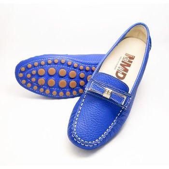 諾曼地MIT輕量軟牛皮豆豆鞋