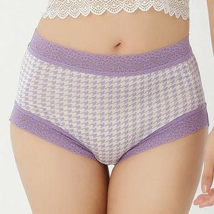 法東森ehs式經典千鳥蠶絲內褲單件-8857(紫)