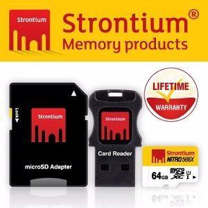 Strontium Nitro UHS-1 Class10 Micro SD 64GB 三合一 記憶卡 (附贈轉卡,讀卡機)
