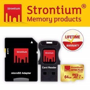 Strontium Nitro Plus  UHS-1 U3 Micro SD 64GB 高階記憶卡 (三合一機動商品包裝)