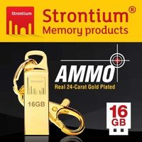 Strontium AMMO GOLD USB 16GB  碟 ^#40 24K奢華金 ^