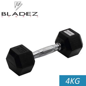 【Bladez】六角包膠啞鈴-4KG