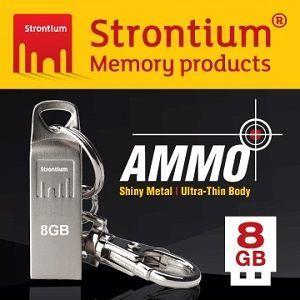 Strontium AMMO SILVER USB 8GB 時尚精品碟 (子彈銀)