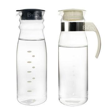 【日本 HARIO】耐熱玻璃冷水壺超值2入組(1400ml+1300ml)