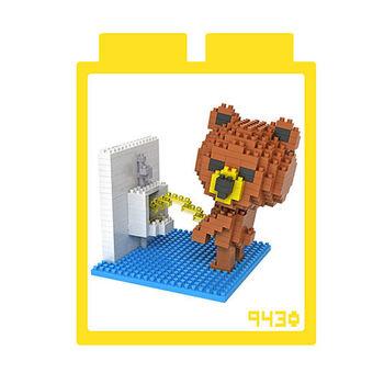 LOZ 鑽石積木-9430【卡通人物】-如廁布朗熊