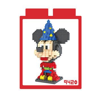 LOZ 鑽石積木-9420【動畫系列】-米奇魔法師裝