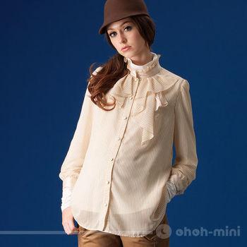 【ohoh-mini】歐風氣質OL雪紡孕婦上衣