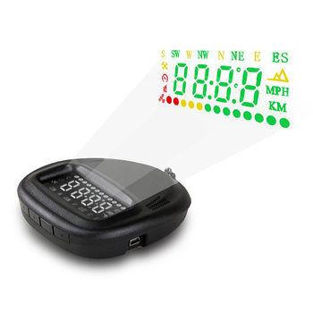 汽車 GPS衛星定位 HUD車速警示 抬頭顯示器 (送擦拭布)