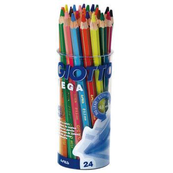 【義大利 GIOTTO】MEGA 六角胖色鉛筆(12色24支裝) 519700