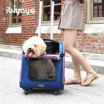 【IBIYAYA依比呀呀】LISO直立式平行寵物拉桿包-藏青藍(FC1405)