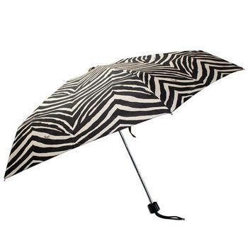 COACH  黑白 斑馬條紋晴雨傘