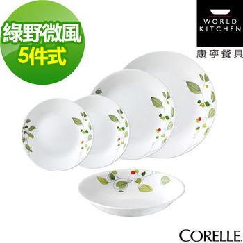 CORELLE康寧綠野微風5件式餐盤組(E02)