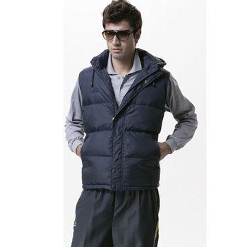 【SAIN SOU】防寒保暖羽絨+可拆式防風帽背心加贈造型短襪x1雙T25122