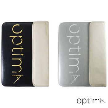 【Optima 】MacBook 12吋sleeve筆電保護袋 Classic系列-黑/銀