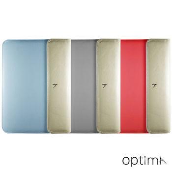 【Optima 】MacBook 12吋sleeve筆電保護袋 Shimmer系列- 亮銀/桃紅/天藍