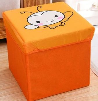 (蜜蜂)復古收納凳大號換鞋凳儲物箱折疊省空間儲物盒兒童玩具收納箱