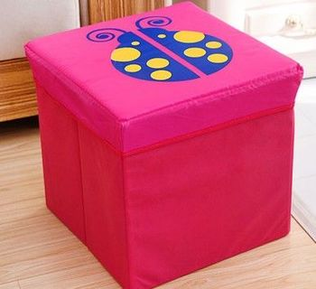 (瓢蟲)復古收納凳大號換鞋凳儲物箱折疊省空間儲物盒兒童玩具收納箱