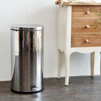 IKLOO宜酷屋_不鏽鋼腳踏垃圾桶-30L(台灣製造)