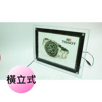 【君沛Jiunpey】 LED水晶燈箱 桌上型燈箱 A4 保固2年 (直立式/橫立式)