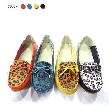 【Alice 】狂野悶騷豹紋蝴蝶真皮鞋
