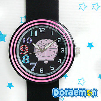 哆啦A夢 數字錶面繽紛果凍錶