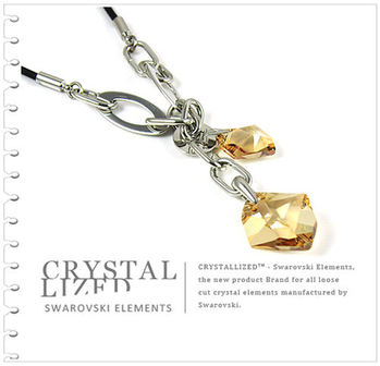 新光飾品-金色魅影狂潮韓版異形水晶項鏈