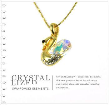 新光飾品-七彩佳人多情韓版天鵝水晶項鏈