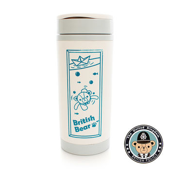 British Bear 英國熊雙層水杯420ml(附濾網)