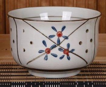 日韓式和風陶瓷碗手繪釉下彩創意青花瓷家用米飯碗