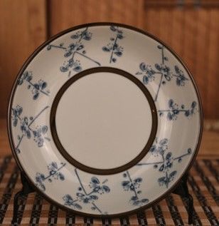 (蠟梅款)和田燒日式瓷盤酒店菜盤和風餐具陶瓷盤子碟子釉下彩圓盤飯盤