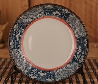 和田燒日式瓷盤酒店菜盤和風餐具陶瓷盤子碟子釉下彩圓盤飯盤