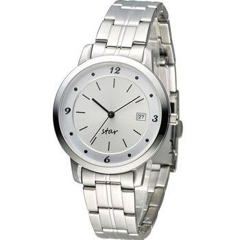 STAR 時代 永恆時光時尚腕錶 9T1407-131S-W