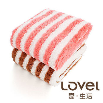 LOVEL 開纖紗牛奶條紋毛巾3入組(共四色)