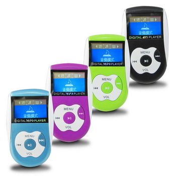 A28亮彩蘋 螢幕插卡式MP3隨身聽(加8GB記憶卡)