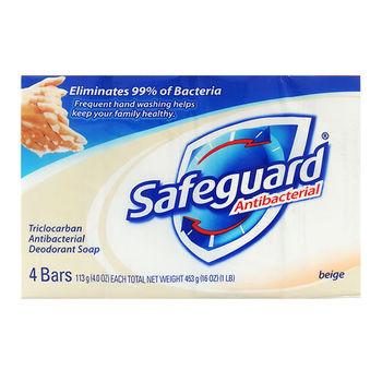 【美國 Safeguard 舒膚佳】原味潤膚皂(4oz*4/6組)